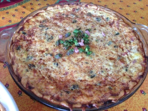HAM, ASPARAGUS, ONION, & SWISS CHEESE QUICHE