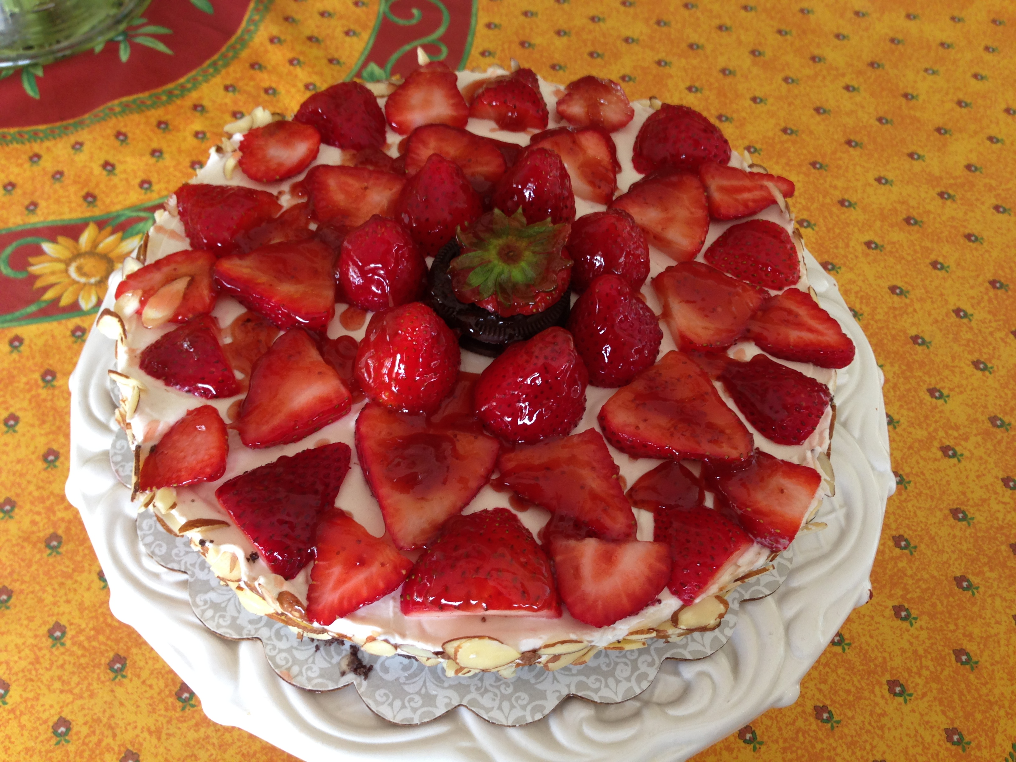 ... OREO CHEESECAKE with STRAWBERRY COULIS | Mary's Joy of Family Cooking