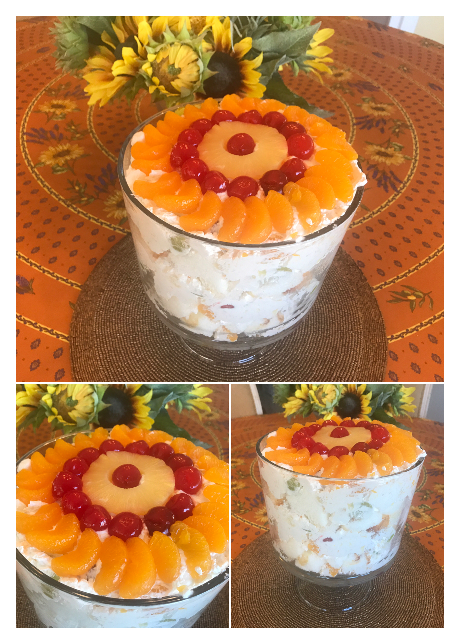 Ambrosia Fruit Salad Trifle Mary S Joy Of Family Cooking